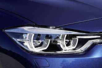 BMW 340i, Mediterranblau metallic. Leder: Dakota Oyster. Sport Line. (07/2015)