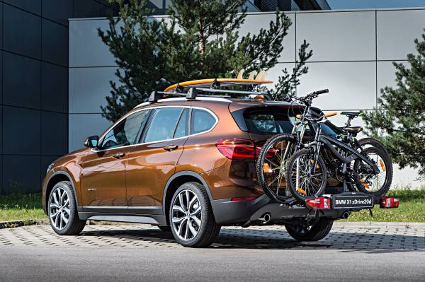The New Bmw X1 On Location Pictures Rear Mounted Bike