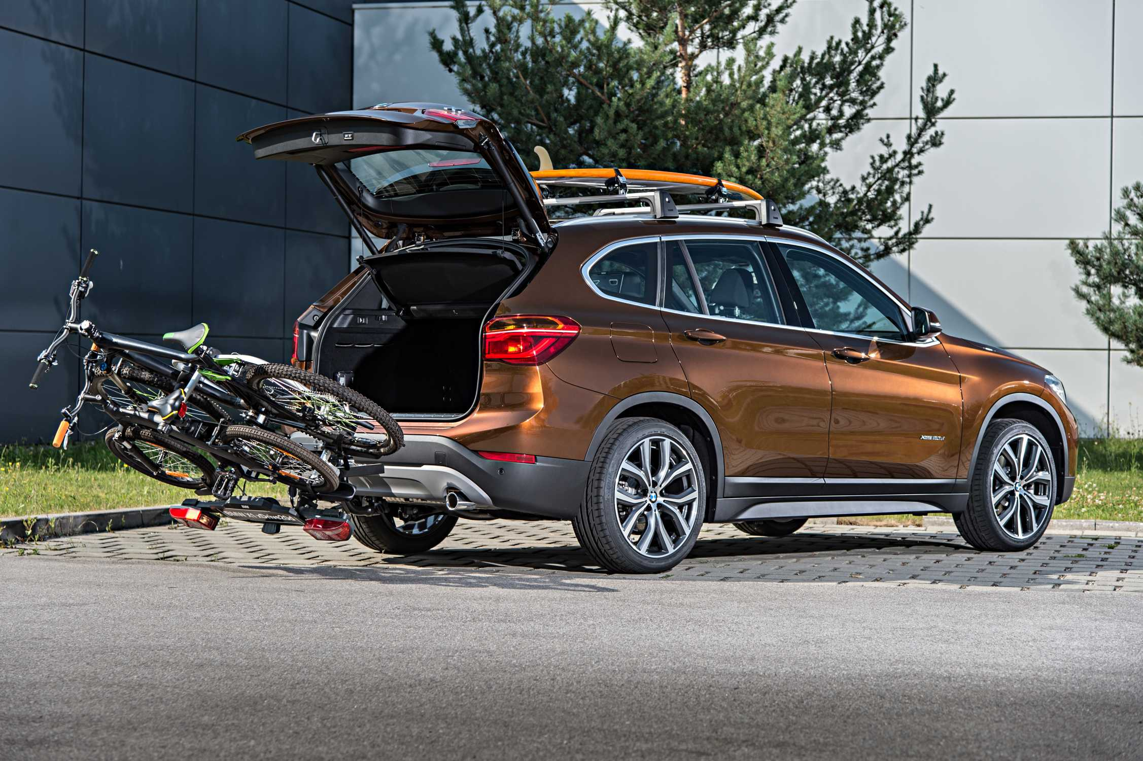 The New Bmw X1 On Location Pictures Rear Mounted Bike Carrier