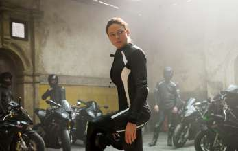 Ilsa Faust (Rebecca Ferguson) mit der BMW S 1000 RR in Mission: Impossible - Rogue Nation von Paramount Pictures und Skydance Productions (07/2015). © 2015 PARAMOUNT PICTURES. ALL RIGHTS RESERVED.