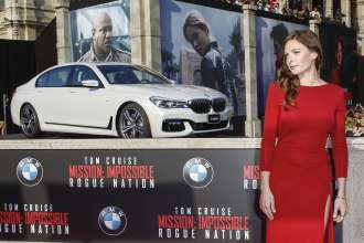 Rebecca Ferguson bei der Weltpremiere von 'Mission: Impossible - Rogue Nation' in der Wiener Staatsoper am 23. Juli 2015 in Wien, Österreich (07/2015). (Photo by Franziska Krug/Getty Images for BMW)