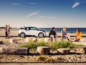 The all-electric BMW i3 now also available at DriveNow car sharing in Copenhagen and interconnected with public transport (08/2015)