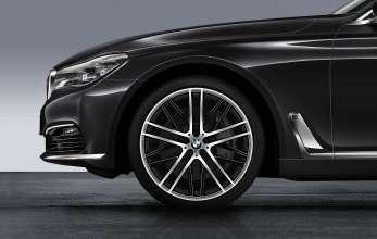 """BMW 7er Limousine Langversion, 21"""" Doppelspeiche 650 M, Schwarz glanzgedreht"""