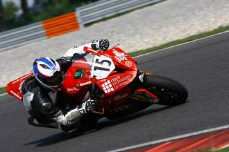 Slovakiaring (H) 13rd September  2015. Team BMW IV Racing Rider Milos Cihak #15 (CZE) riding the BMW S1000RR. This image is copyright free for editorial use © BMW AG