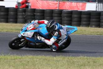 New Jersey (USA) 13rd August 2015. Team BMW Dead President Racing Rider Jeremy Cook  #81 (USA) riding the BMW S1000RR. This image is copyright free for editorial use © BMW AG