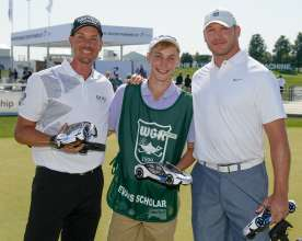On Wednesday, September 16, 2015 during the 2015 BMW Championship at Conway Farms Golf Club in Lake Forest, IL, former Chicago Bears linebacker Brian Urlacher and PGA TOUR player Henrik Stenson took a back seat to Evans Scholar Caddie Jordan Pounder when they competed in a race to the hole, each using a miniature high-performance remote controlled BMW i8.   Jordan's successful attempt resulted in a $10,000 donation from BMW to the Evans Scholars Foundation on his behalf.