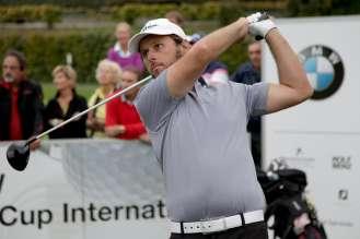 Martin Wiegele beim österreichischen Landesfinale des BMW Golf Cups International 2015 (09/2015)