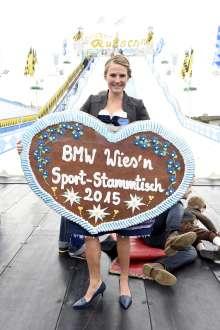 München (DE), 22. September 2015. Ingalena Heuck, BMW Wiesn Sport-Stammtisch 2015. Für redaktionelle Zwecke rechtefrei nutzbar. © BMW AG (09/2015).