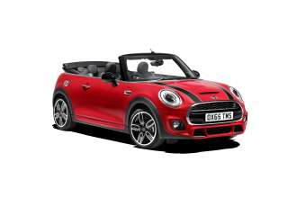 MINI Cooper S Convertible with John Cooper Works Exterior package. Chili Red. (10/2015)
