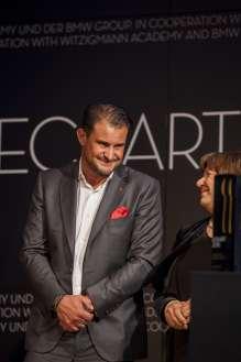 Klaus Erfort und Ulrike Thieltges, beide ECKART 2015 für Lebenskultur (v.l.n.r). Verleihung des ECKART 2015, BMW Museum (10/2015).