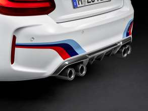 BMW M2 Coupé with BMW M Performance Parts carbon rear diffusor and exhaust system (11/2015)