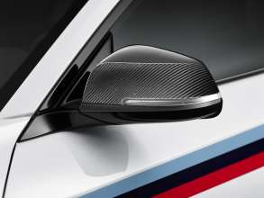 BMW M2 Coupé with BMW M Performance Parts carbon side mirror cover (11/2015)