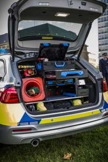 Der BMW 318d Touring als neues Einsatzfahrzeug der Polizei Nordrhein-Westfalen. (11/2015)