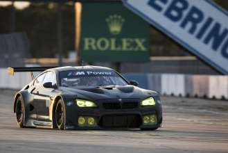 The new BMW M6 GTLM testing at Sebring. October 2015