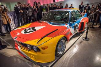 The BMW Art Car by Alexander Calder (1975) at the announcement event of the two new BMW Art Car artists Cao Fei and John Baldessari at the Guggenheim Museum, New York. (11/2015)