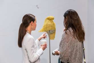 Fritzia Irizar at the Gallery Arredondo \ Arozarena booth at Art Basel Miami Beach 2015. (c) Art Basel (12/2015)