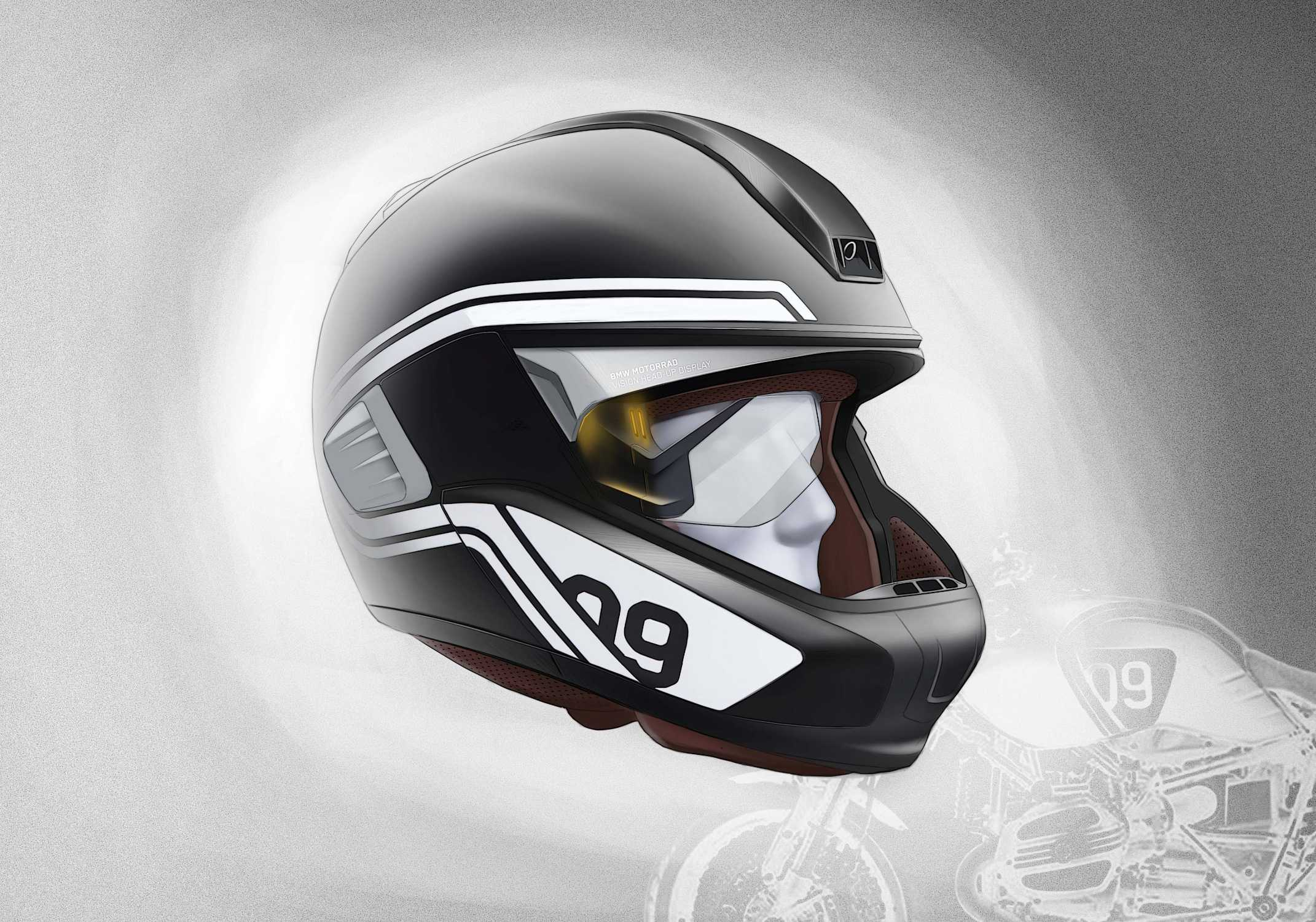bmw motorrad presents concepts for motorcycle laser light and helmet with head up display. Black Bedroom Furniture Sets. Home Design Ideas
