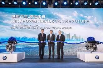 Eröffnung des neuen BMW Brilliance Motorenwerks mit Gießerei in Shenyang, v.l.n.r. Olaf Kastner, Leiter BMW Group Region China, Oliver Zipse, Vorstand Produktion BMW Group, Dr. Anton Heiss, Präsident BMW Brilliance Automotive (01/2016)