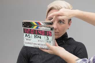 Abby Wambach behind the scenes of the big game commercial shoot. (02/2016)