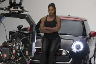 Serena Williams behind the scenes of the big game commercial shoot. (02/2016)