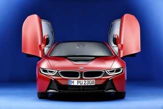 The new BMW i8 Protonic Red Edition (02/2016).