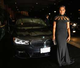 Angela Basset and the new BMW 7 Series at the 68th Annual Directors Guild Of America Awards at the Hyatt Regency Century Plaza on February 6, 2016 in Los Angeles, California.