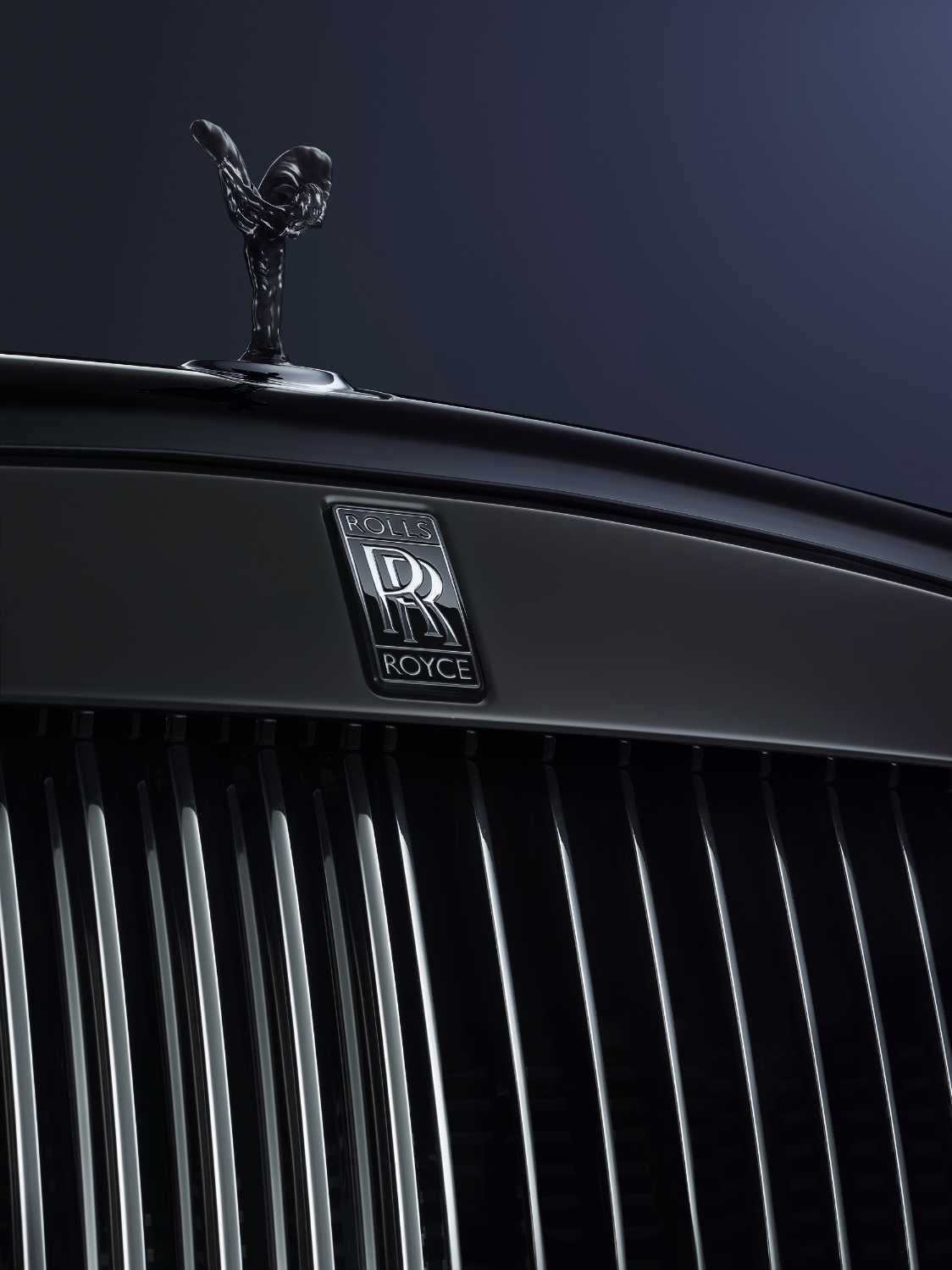 ROLLS-ROYCE MOTOR CARS' SPIRIT OF ECSTASY, BLACK BADGE AND PANTHEON GRILLE