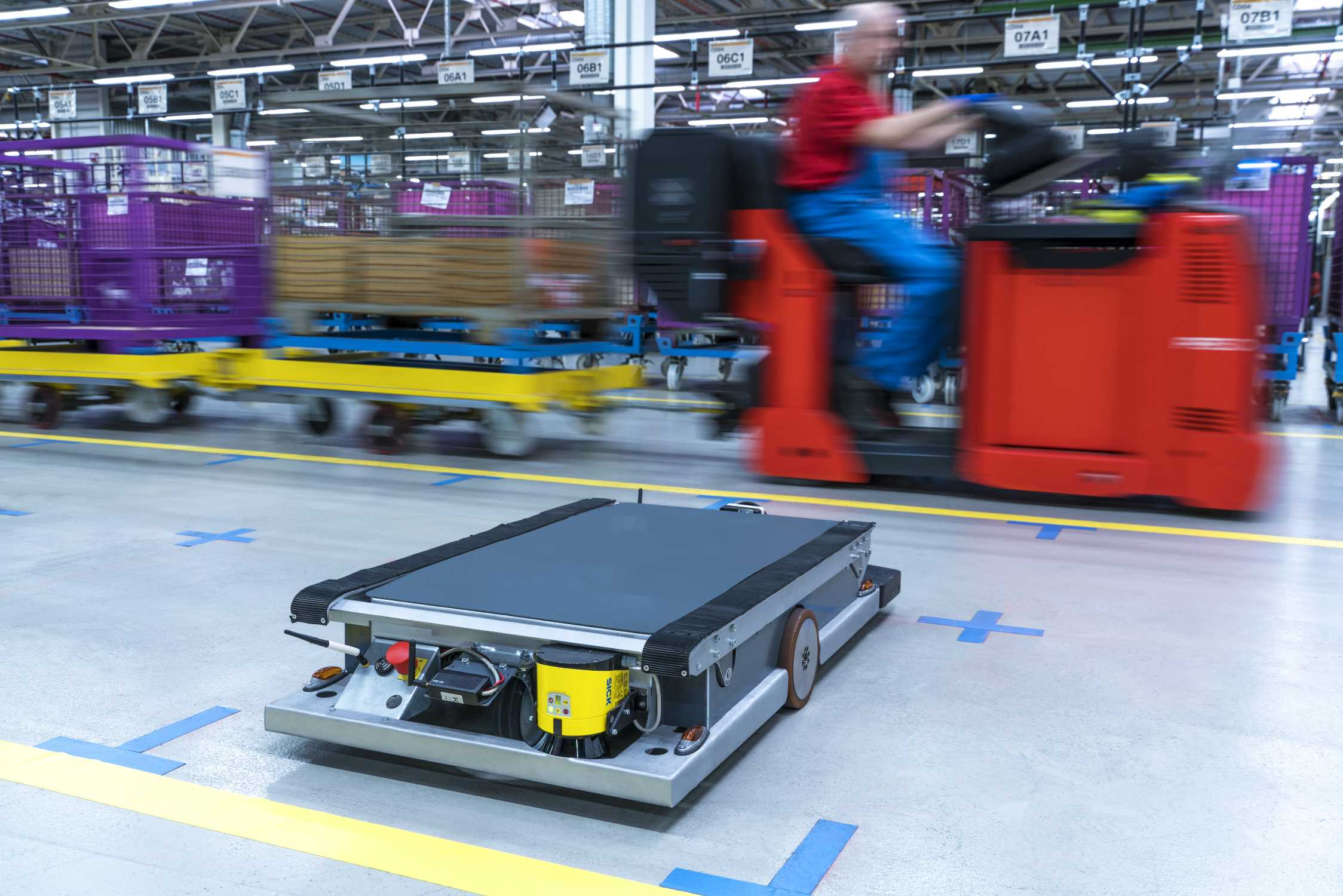 Bmw Group Introduces Self Driving Robots In Supply Logistics