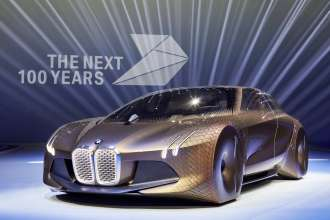 BMW GROUP THE NEXT 100 YEARS. Centenary Event in the Olympic Hall in Munich on 7 March 2016. The BMW VISION NEXT 100. (03/2016)