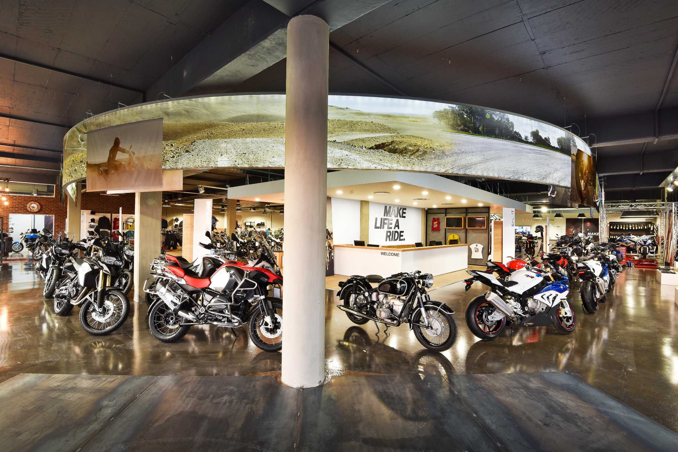 bmw motorrad launches second brand concept store in south. Black Bedroom Furniture Sets. Home Design Ideas