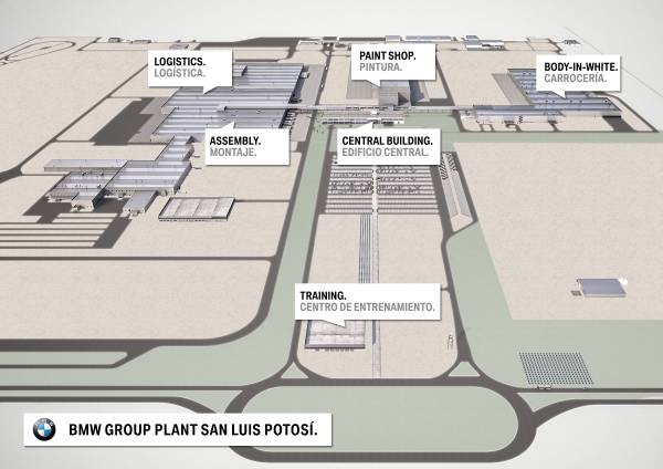 160616 Groundbreaking BMW Group Plant San Luis Potosí, Visualisation Plant Layout (06/2016)