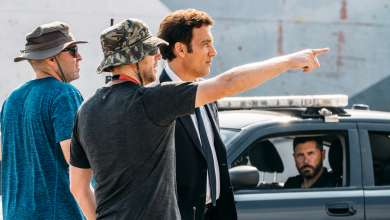 """Clive Owen and Neill Blomkamp on set of BMW Films' newest release, """"The Escape,"""" an homage on the 15th Anniversary of BMW Films.  The short film directed by Academy Award®nominated director Neill Blomkamp, also stars original BMW Films lead and Oscar® nominated actor Clive Owen, who reprises his role as The Driver. """"The Escape"""" also stars Dakota Fanning, Jon Bernthal and Oscar® nominee Vera Farmiga.  The film will premiere on Sunday, October 23, 2016 at BMWFilms.com. (Patrick Pierson, 09/2016)"""