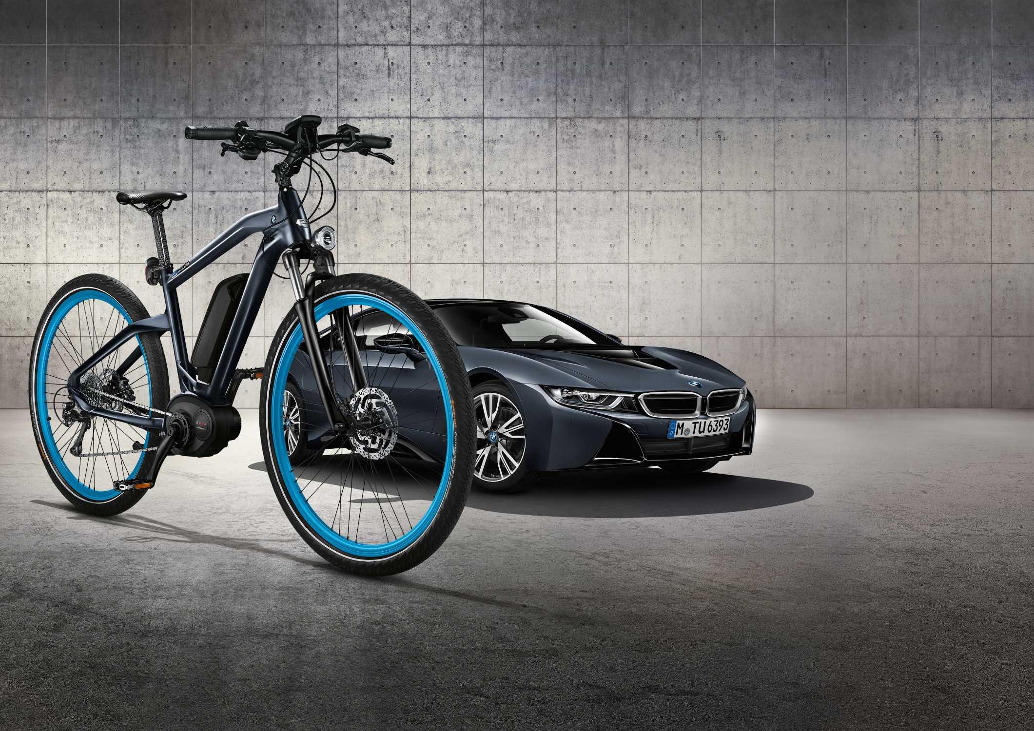 The Bmw Cruise E Bike Limited Edition Exclusive Colour Scheme Matches Bmw I8 Protonic Dark Silver Edition