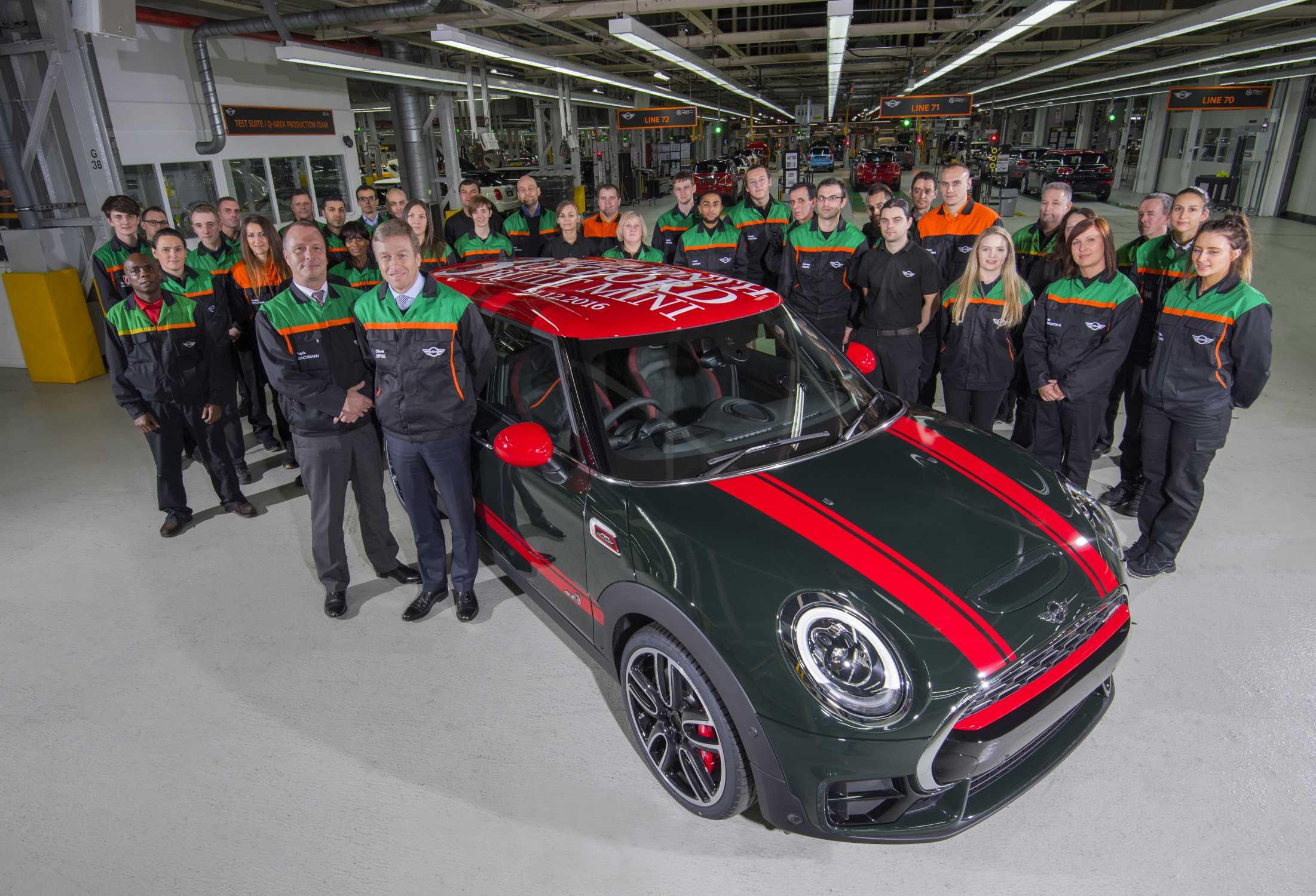 Three Million Minis Oxford Plant Hits Major Manufacturing Milestone