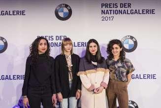 Iman Issa (nominated artist), Agnieszka Polska (nominated artist), Sol Calero (nominated artist), Jumana Manna (nominated artist) (f.l.t.r.) (03/2017) © David von Becker