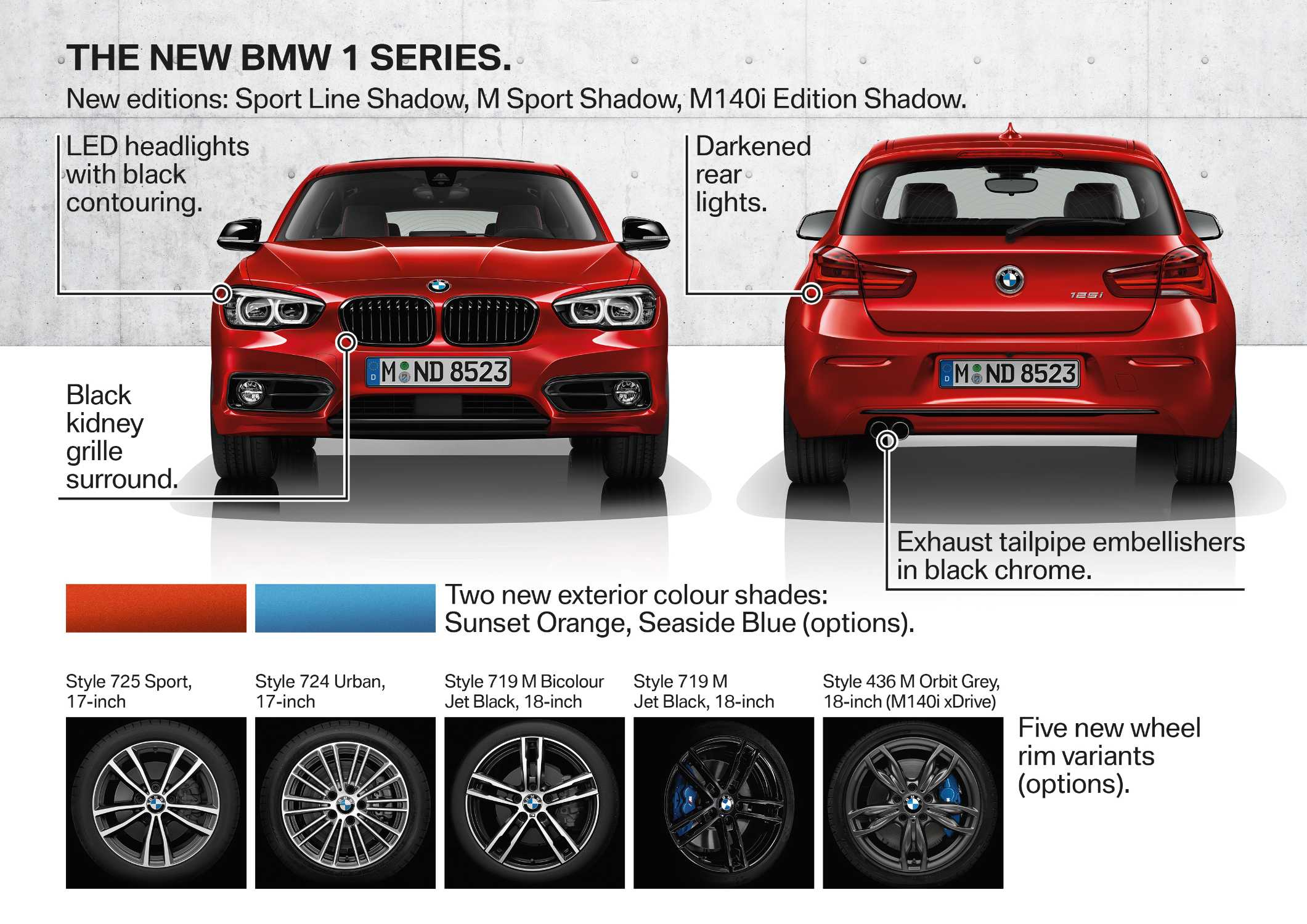 The new BMW 1 Series, Highlights (05/2017).
