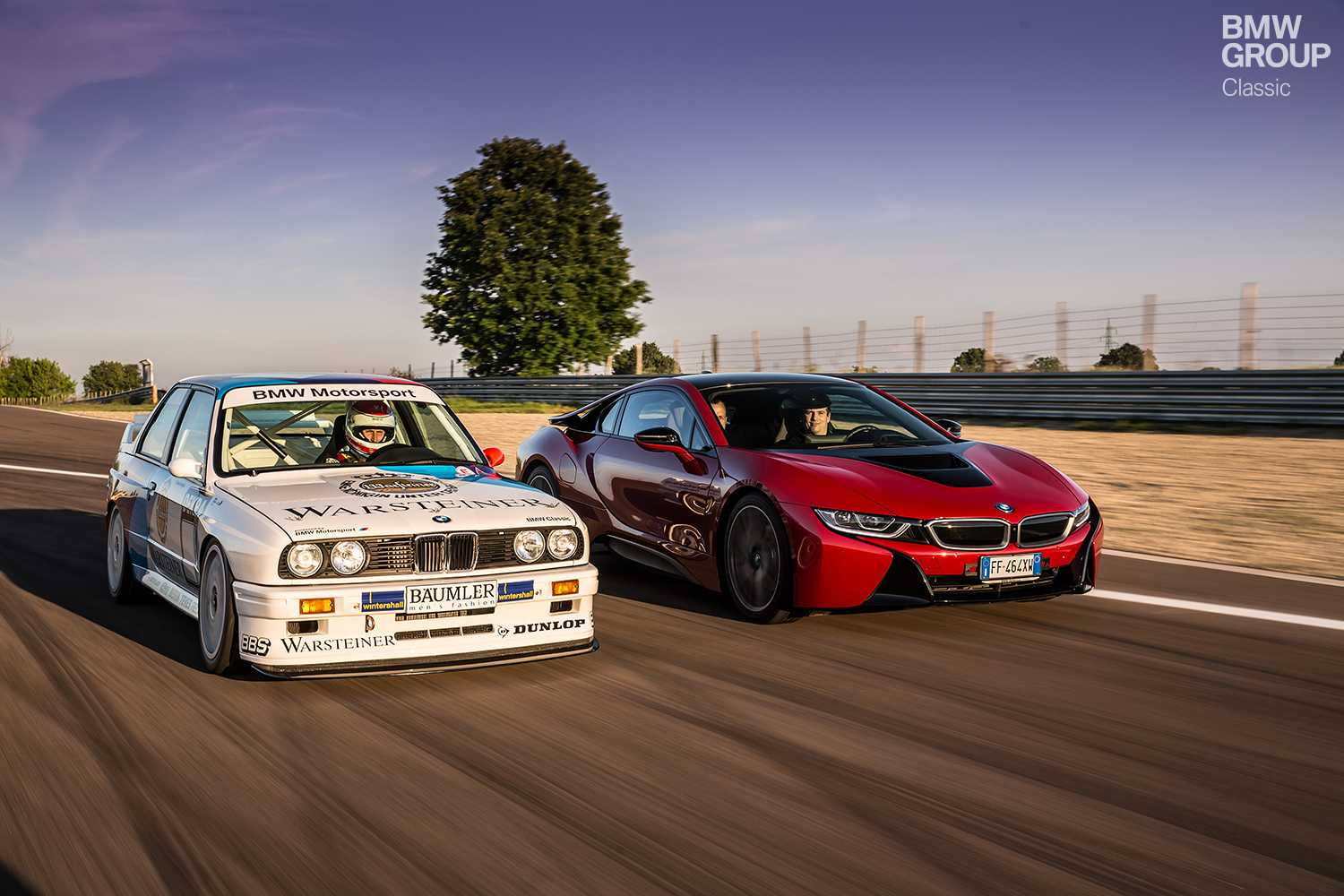 A Classic BMW M3 Goes Head To With The New I8 In An Enthralling Race At Vintage Day Modena Marco Zamponi
