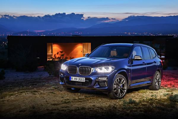 The new BMW X3 xDrive M40i (Exterior color: Phytonic Blue metallic, upholstery: Leder Vernasca Cognac) (06/2017).