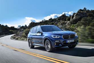 The new BMW X3 xDrive M40i (Exterior color: Phytonic Blue metallic, upholstery: Leder Vernasca Cognac) (06/2017).
