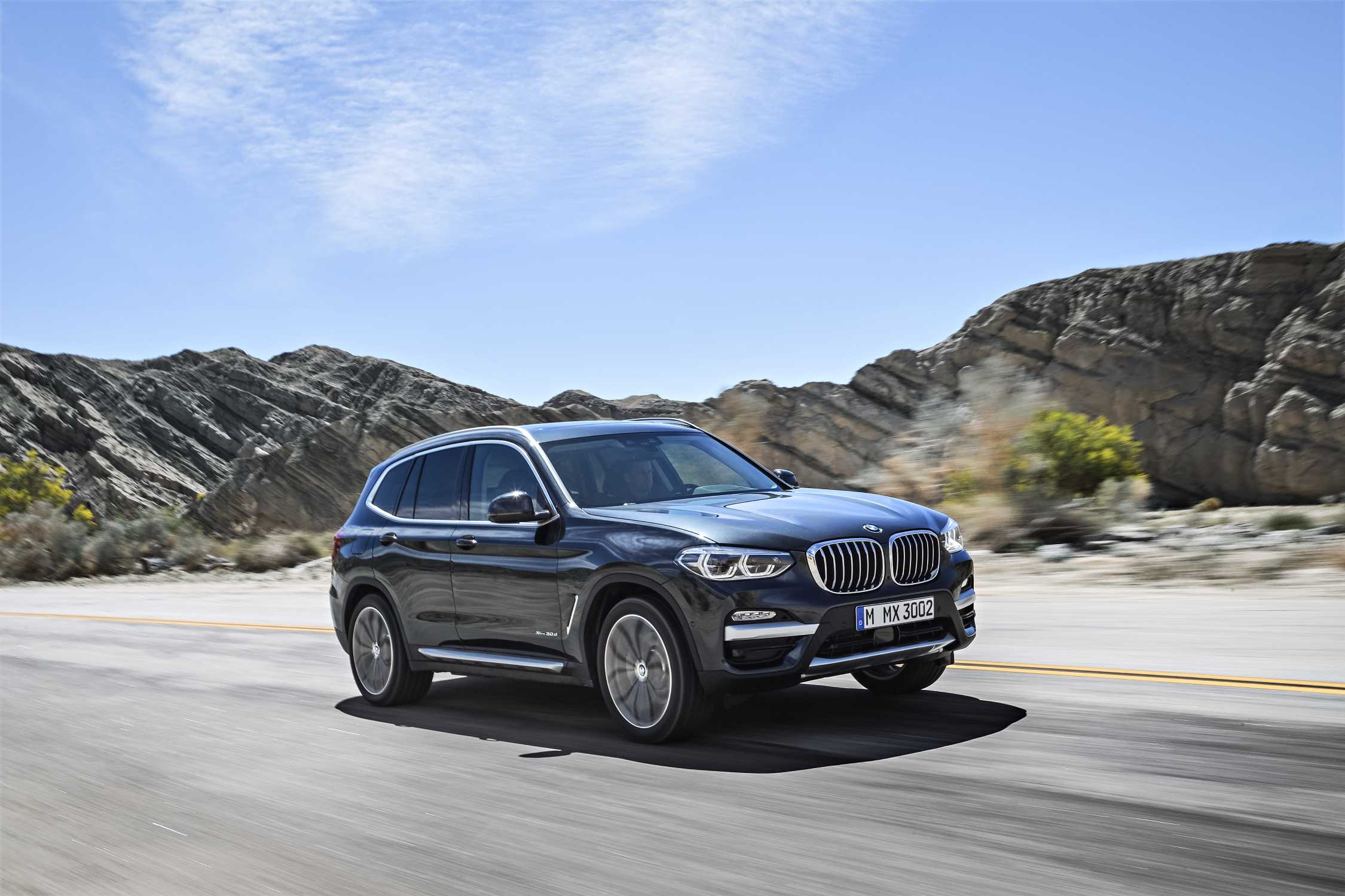The New BMW X3 XDrive30d With XLine (Exterior Color: Sophisto Grey  Metallic, Upholstery: Leather Vernasca Mocca) (06/2017).