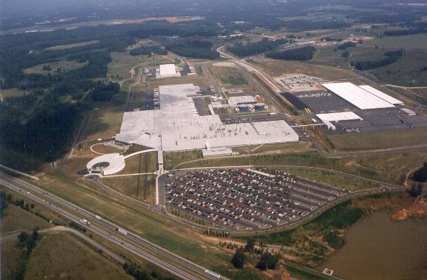 BMW Plant Spartanburg >> Bmw Group Plant Spartanburg Historical Aerial View From The