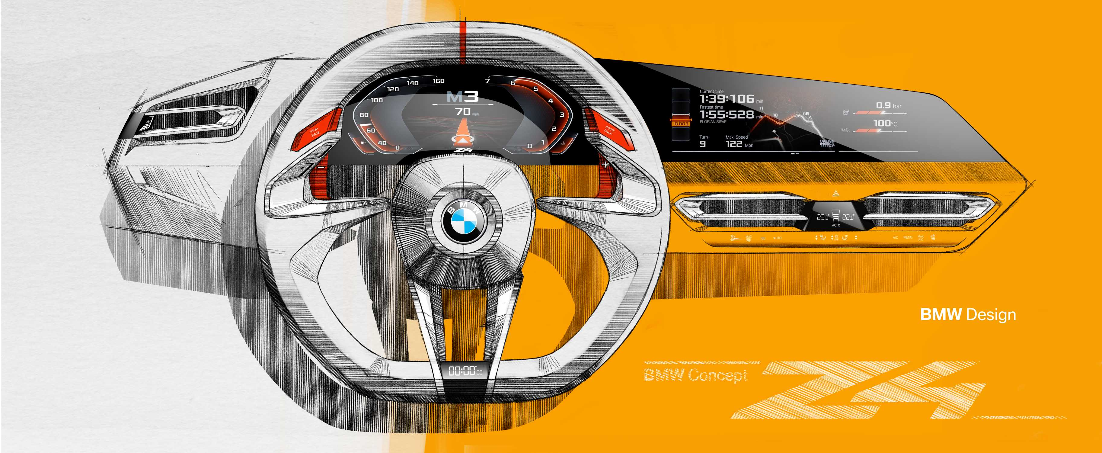 bmw concept z4  design sketches interior   08  2017