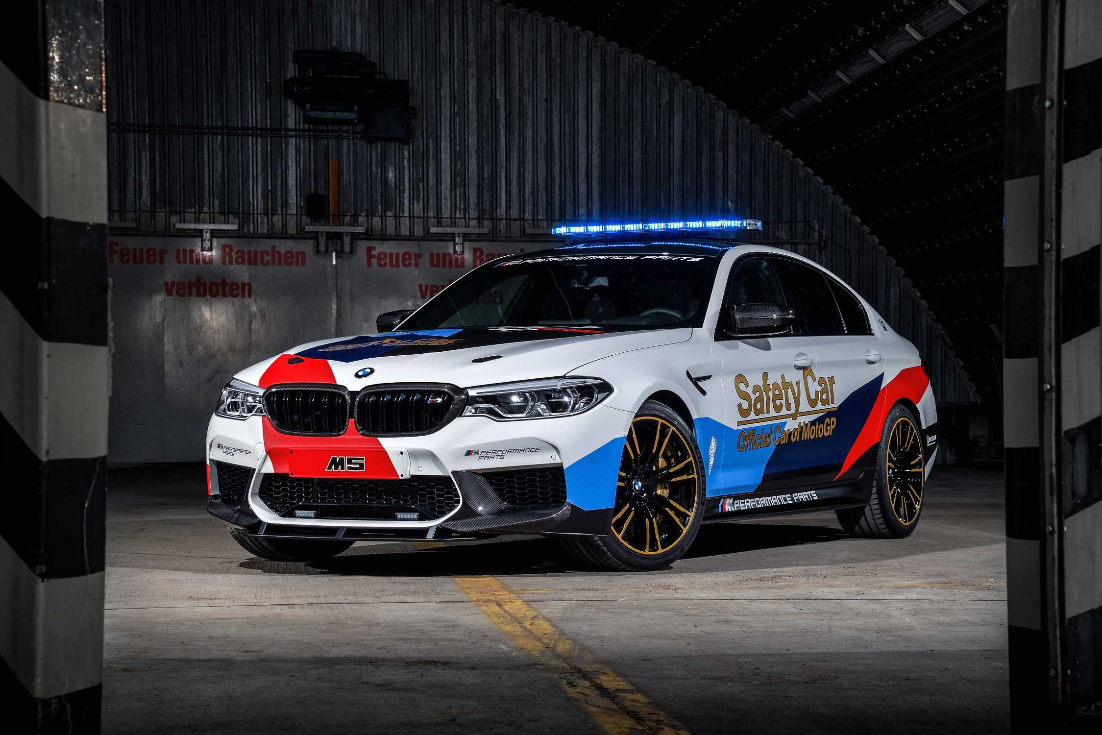 pretty nice 457fe 954c8 Innovative technology for safety in the pinnacle of motorcycle racing  the  new BMW M5 MotoGP Safety Car.