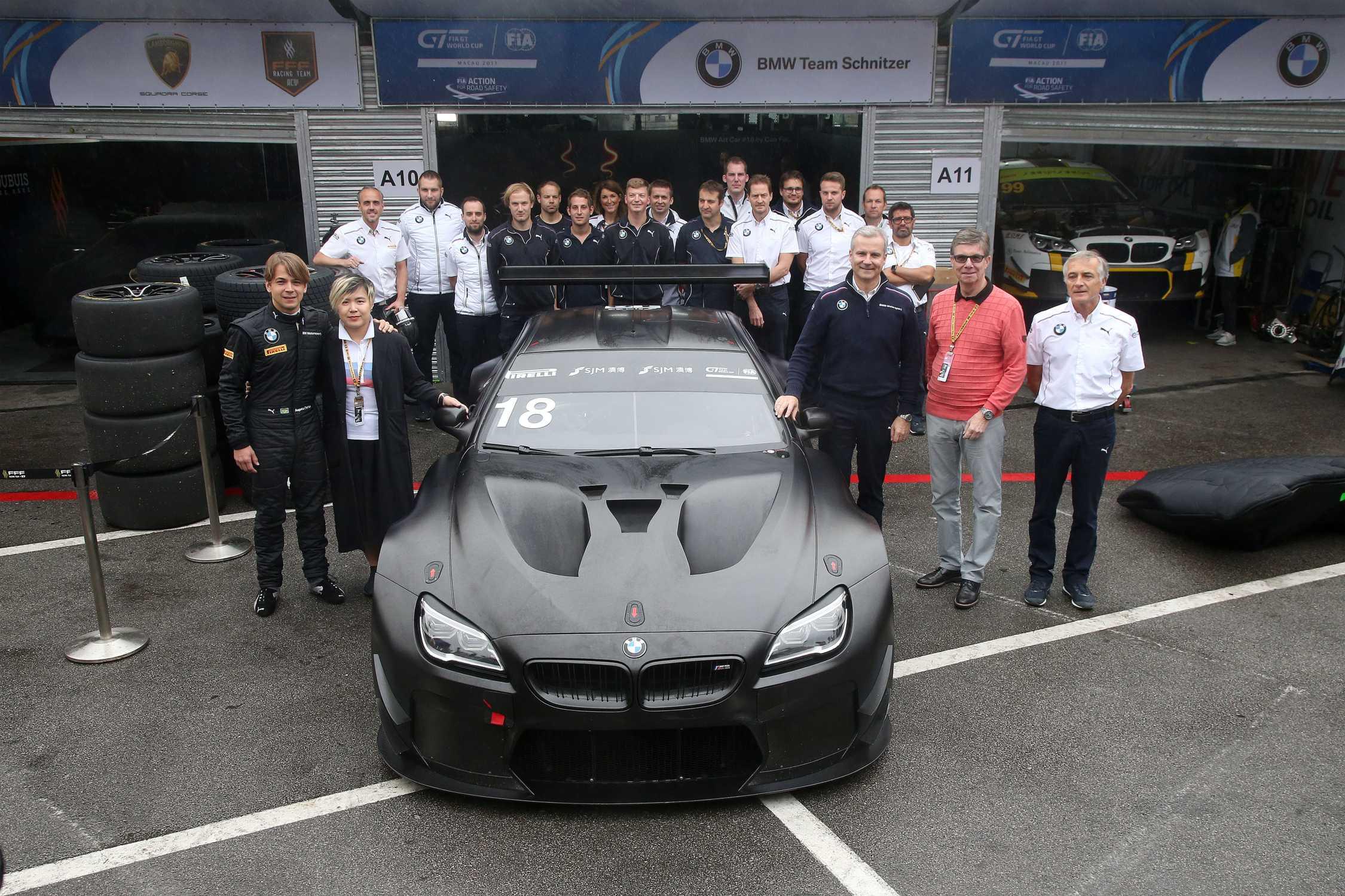 BMW Motorsport FIA GT World Cup Augusto Farfus BRA Cao Fei CHN Team Schnitzer Art Car 18 By Jens Marquardt GER