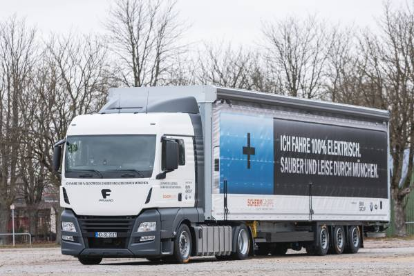 Second electric truck for inbound logistics BMW Group Plant Munich (12/2017)