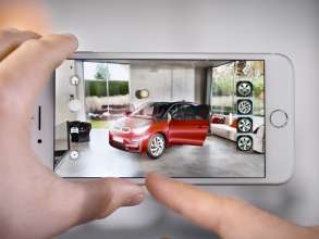 BMW i among the first automotive brands to offer an augmented reality app using Apple's ARKit with iOS 11 (c) BMW AG (12/17)