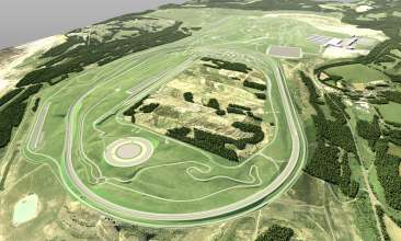 Rendering of the new proving ground in Sokolov (Karlovarsky Kraj), Czech Republic (12/2017),