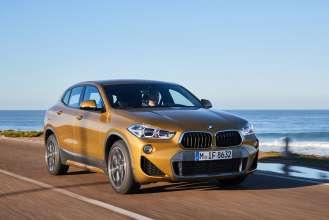 The new BMW X2. X2 xDrive20d, model M Sport X, Galvanic Gold (02/2018).
