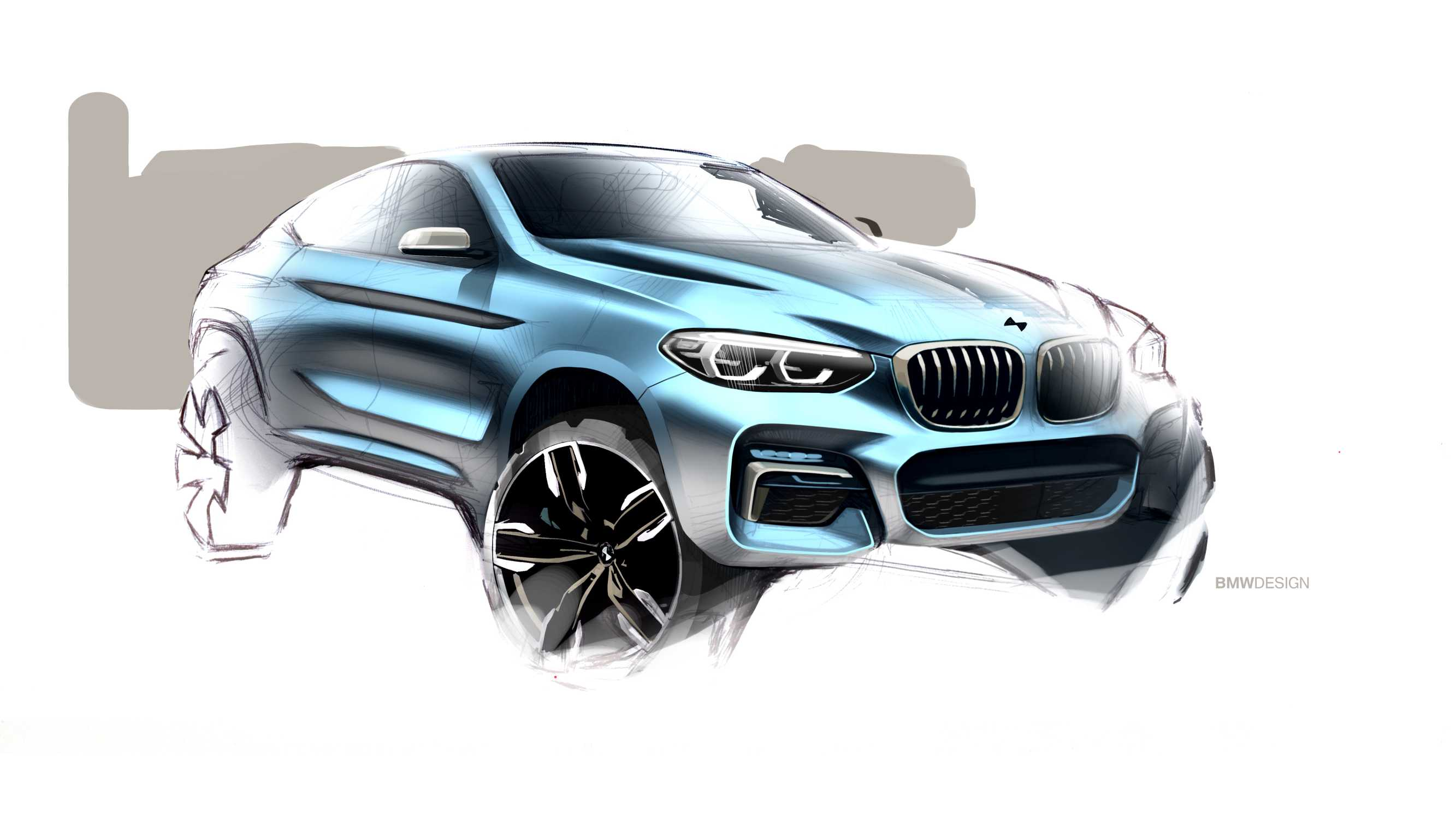 The all-new BMW X4 - design sketch (02/2018.