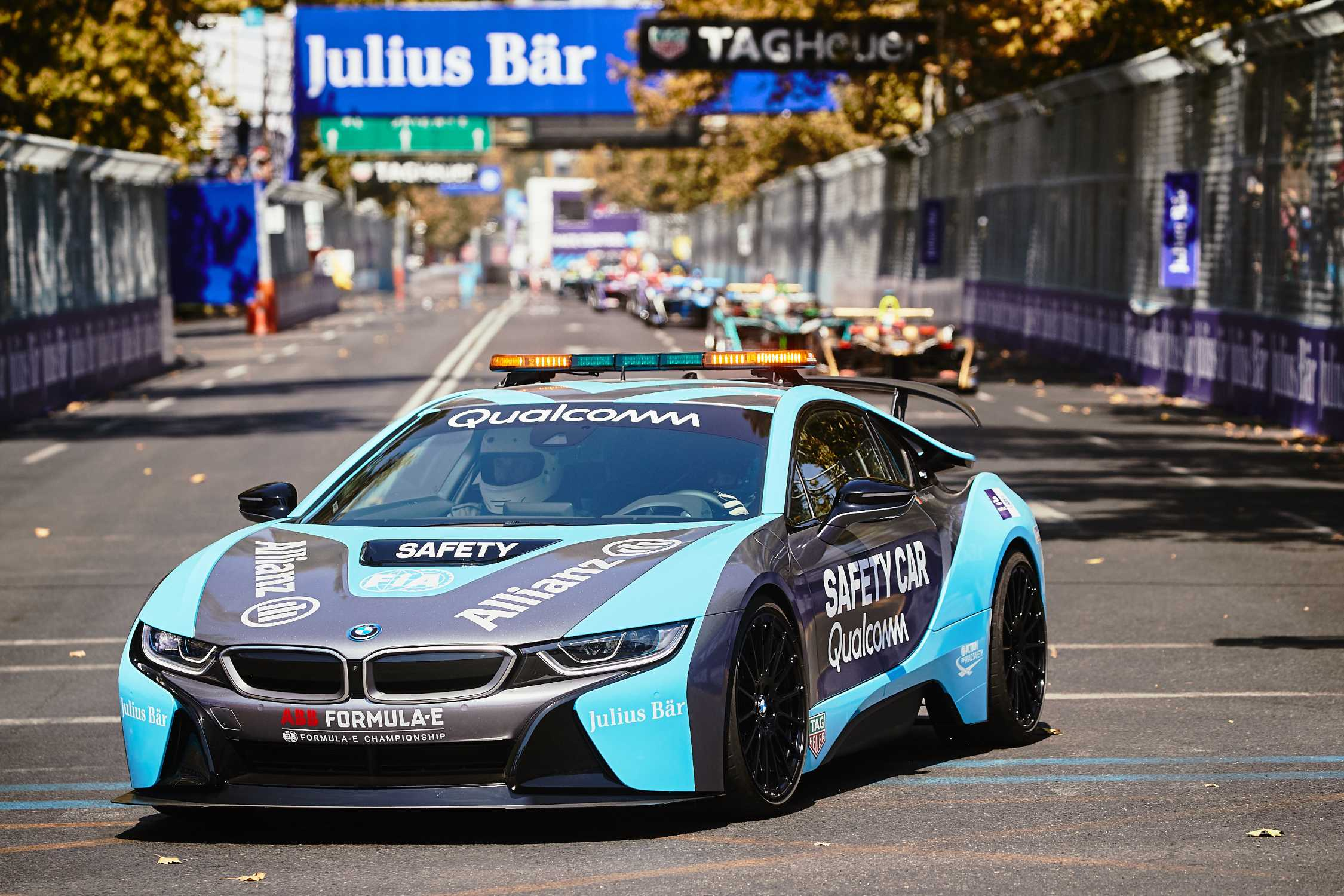 First Race Outing For The New Bmw I8 Coupe Qualcomm Safety Car